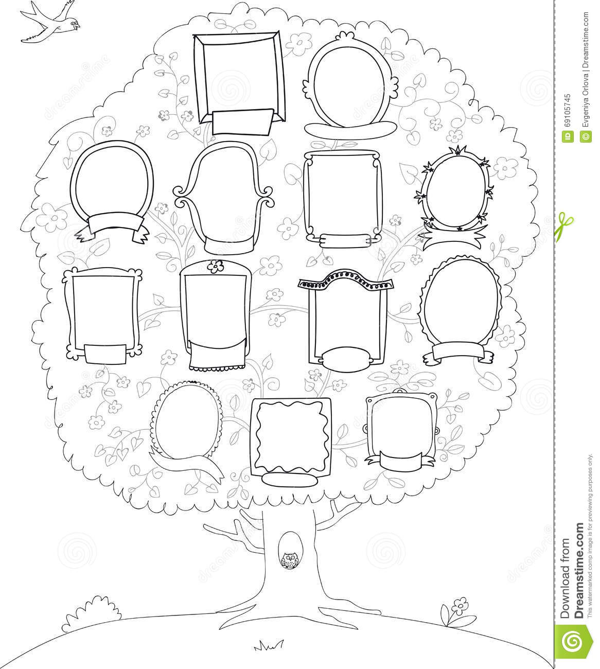 Family Tree Genealogical Tree Stock Vector