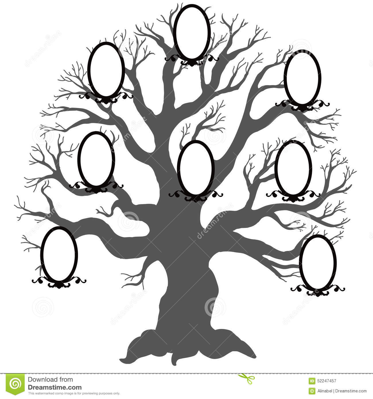 Family Treector Illustration Stock Vector