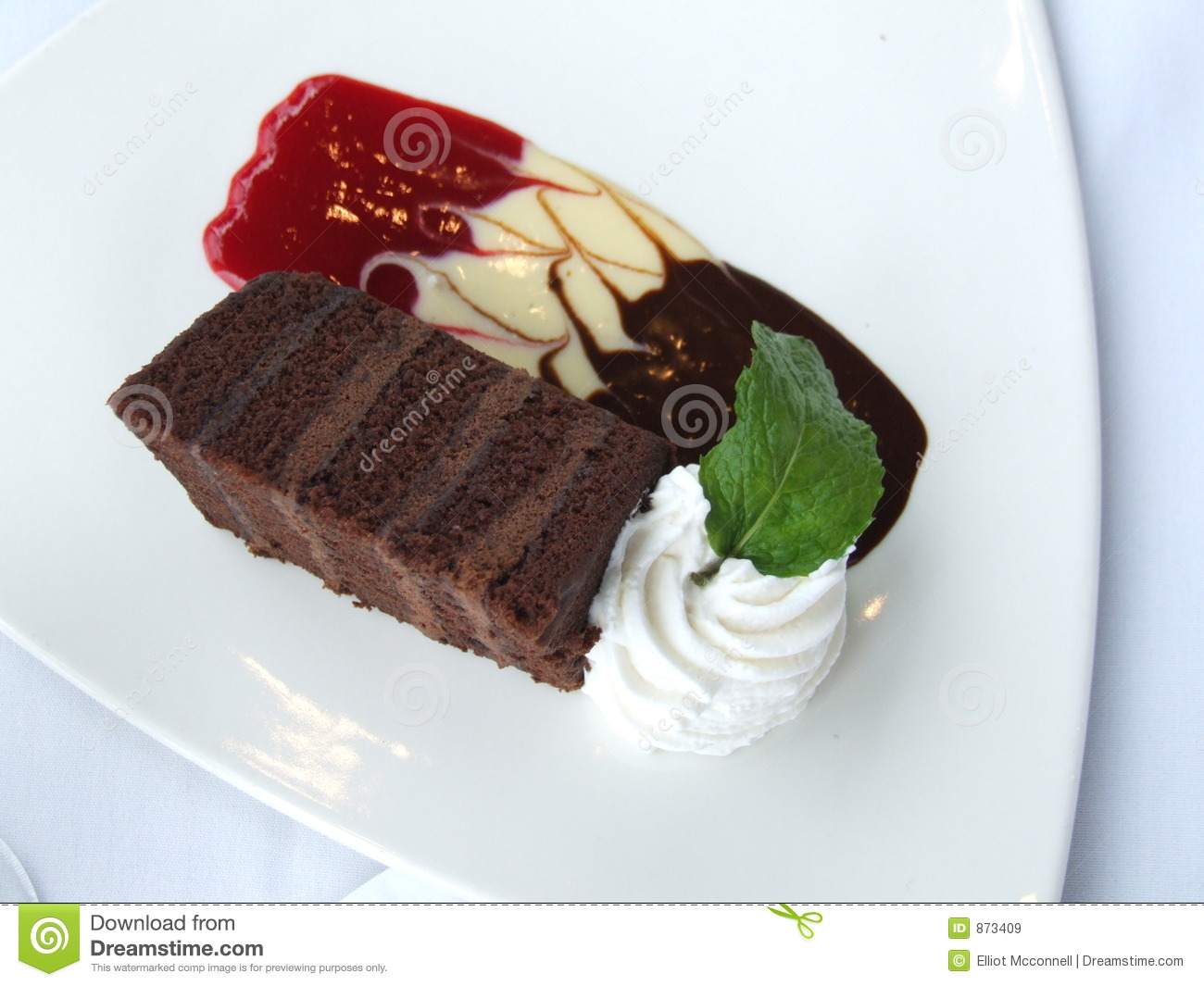 Fancy Chocolate Cake Stock Image Image Of Frosting
