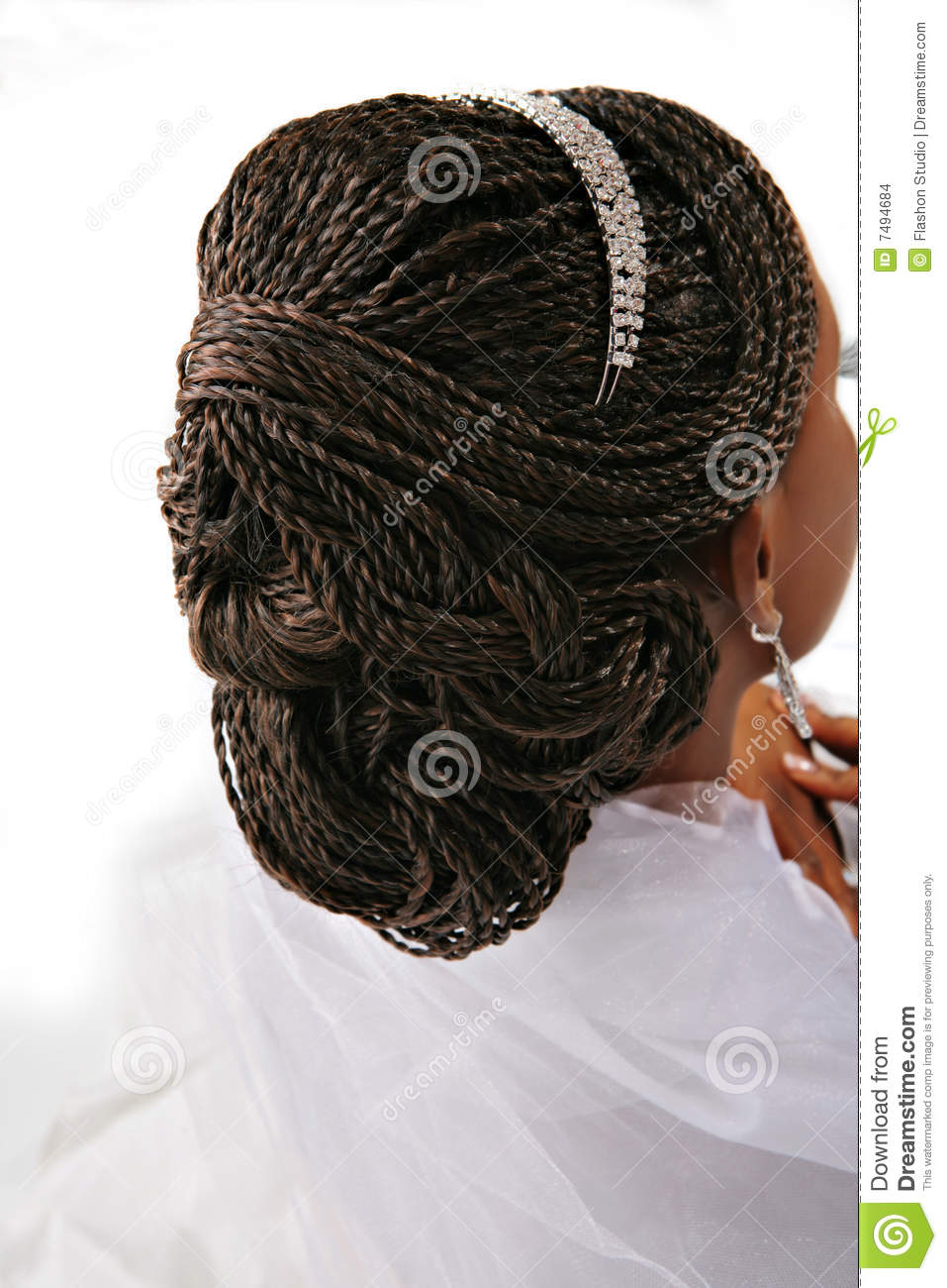 Fancy Female Hair Braid Closeup Stock Photo Image Of