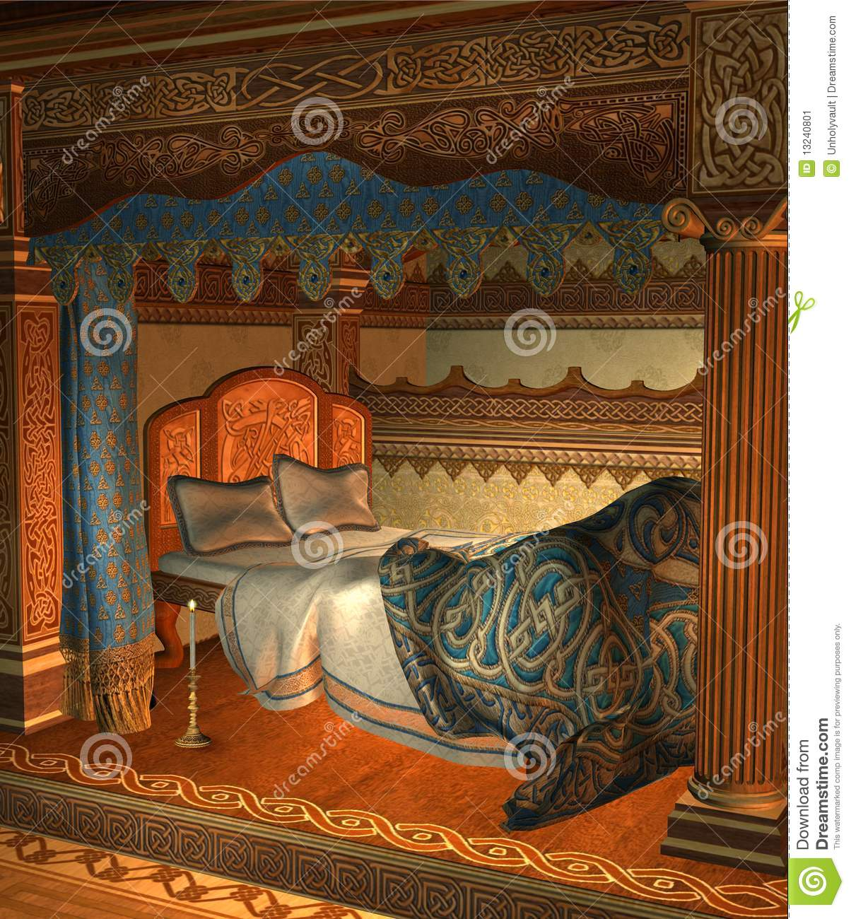 Fantasy Bedroom 3 Stock Image Image 13240801