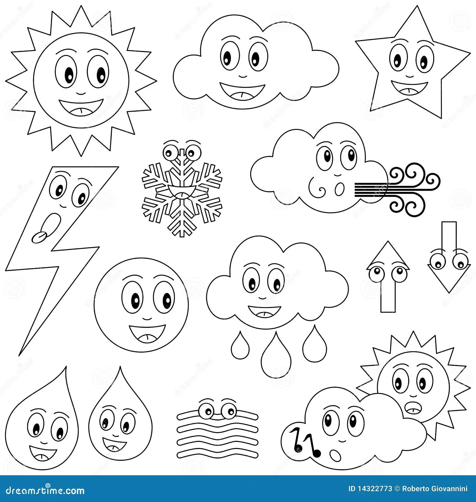Farbton Wetter Zeichen Vektor Abbildung Illustration Von Lustig