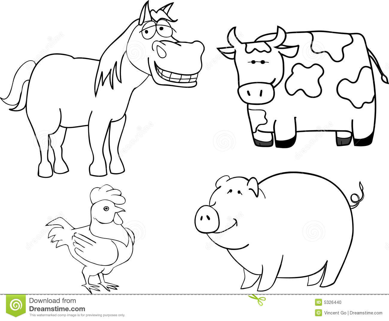 Farm Animals Stock Vector Illustration Of Image Spotted