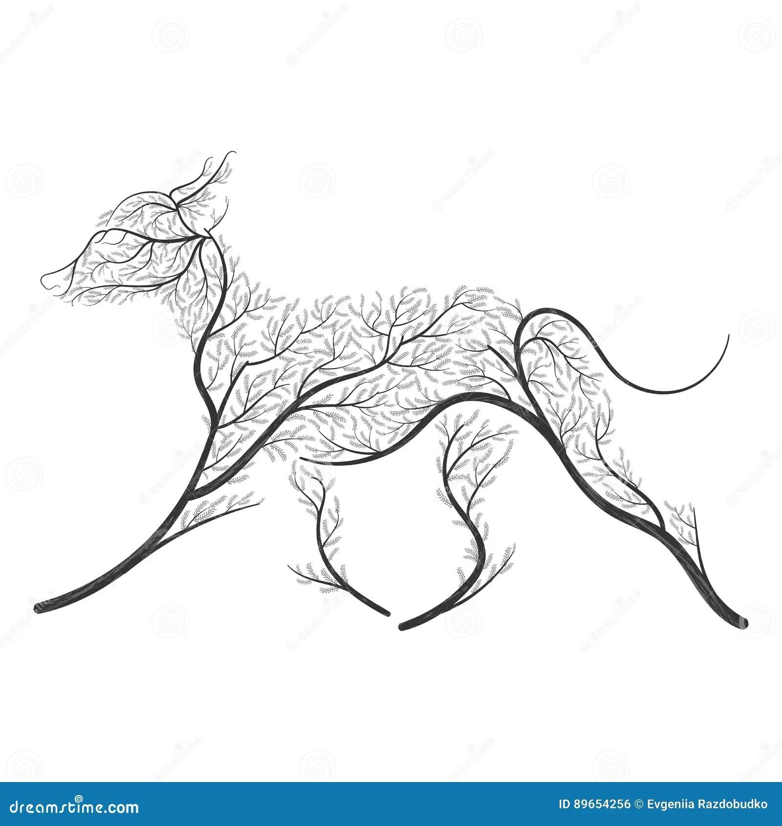 4 Stylized Animals Cartoon Vector