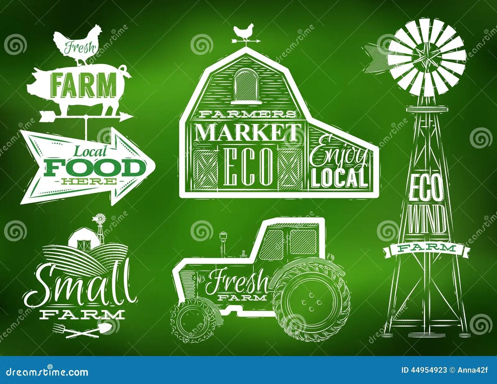 Farm Vintage Green Stock Vector Image Of Field Market