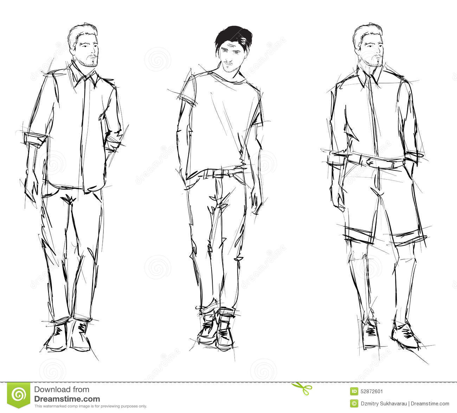 Fashion Men Stock Illustration Illustration Of