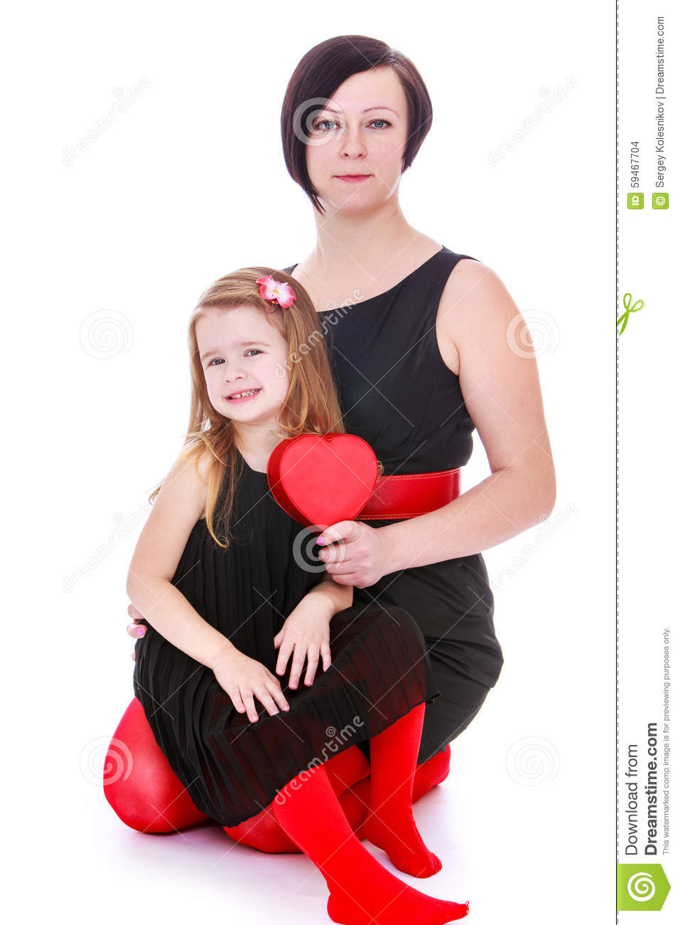 Fashion Mom And Daughter Stock Photo Image Of Beauty