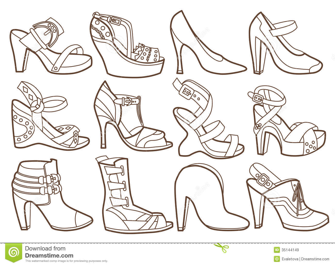 Fashion Shoes Collection Royalty Free Stock Images