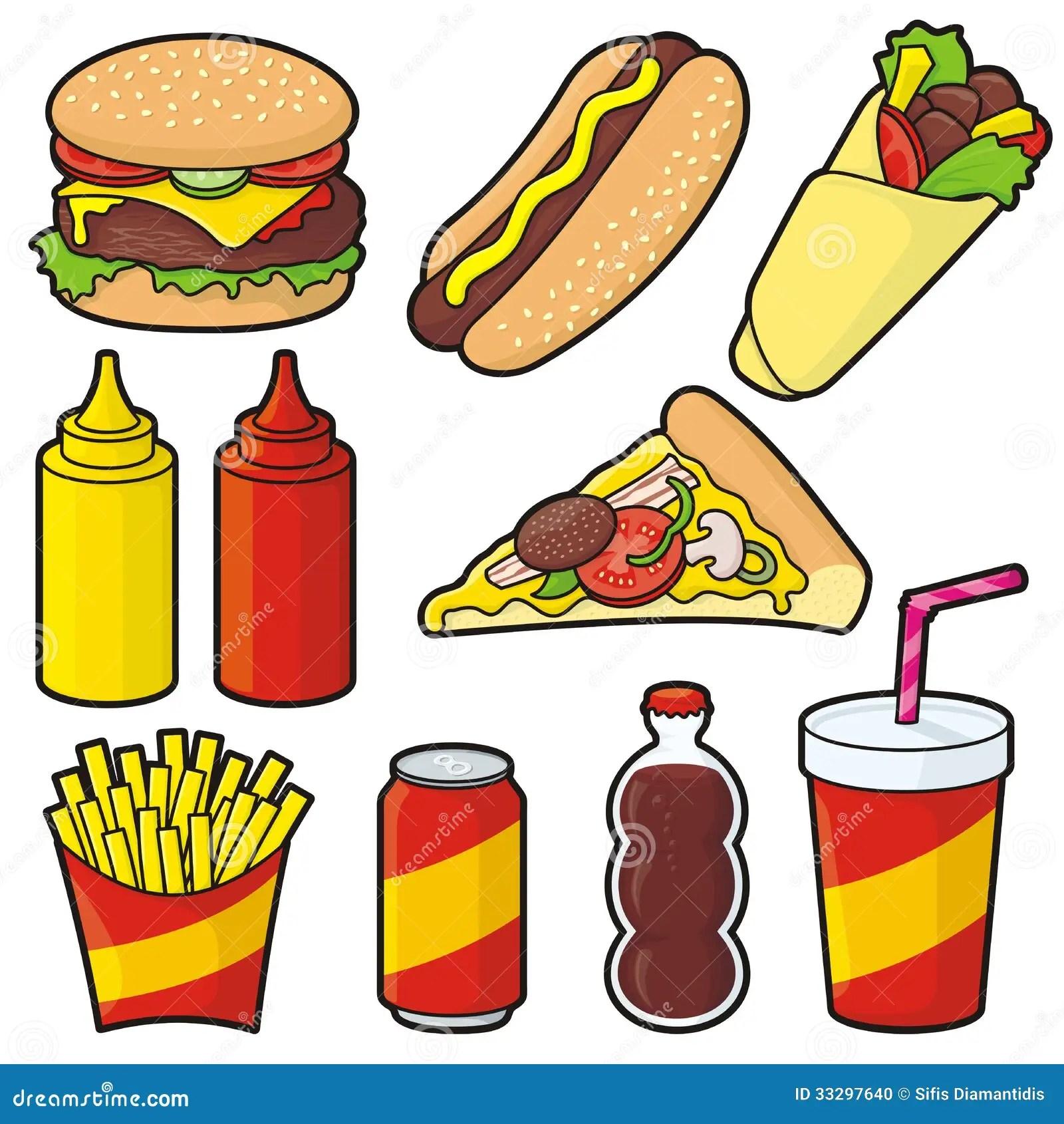 Fast Food Cartoon Clip Art Cliparts