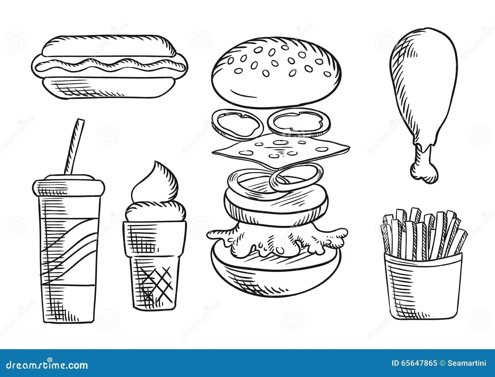 Fast Food Menu Stock Vector