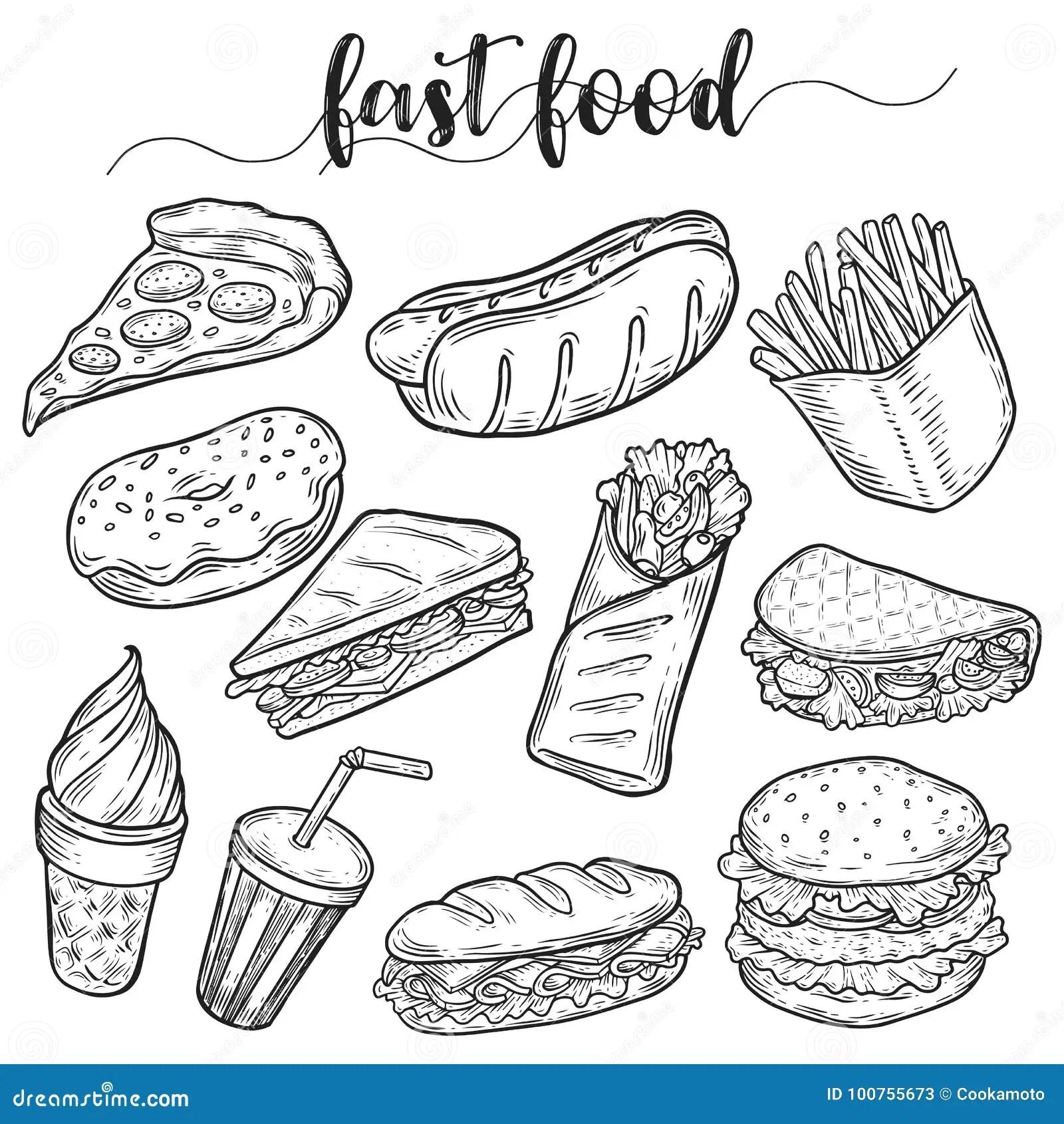 No Junk Food Poster Cartoon Vector