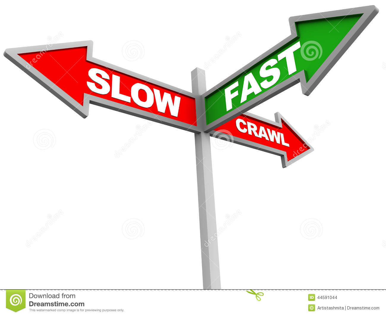 Fast Versus Slow Or Very Slow Stock Illustration