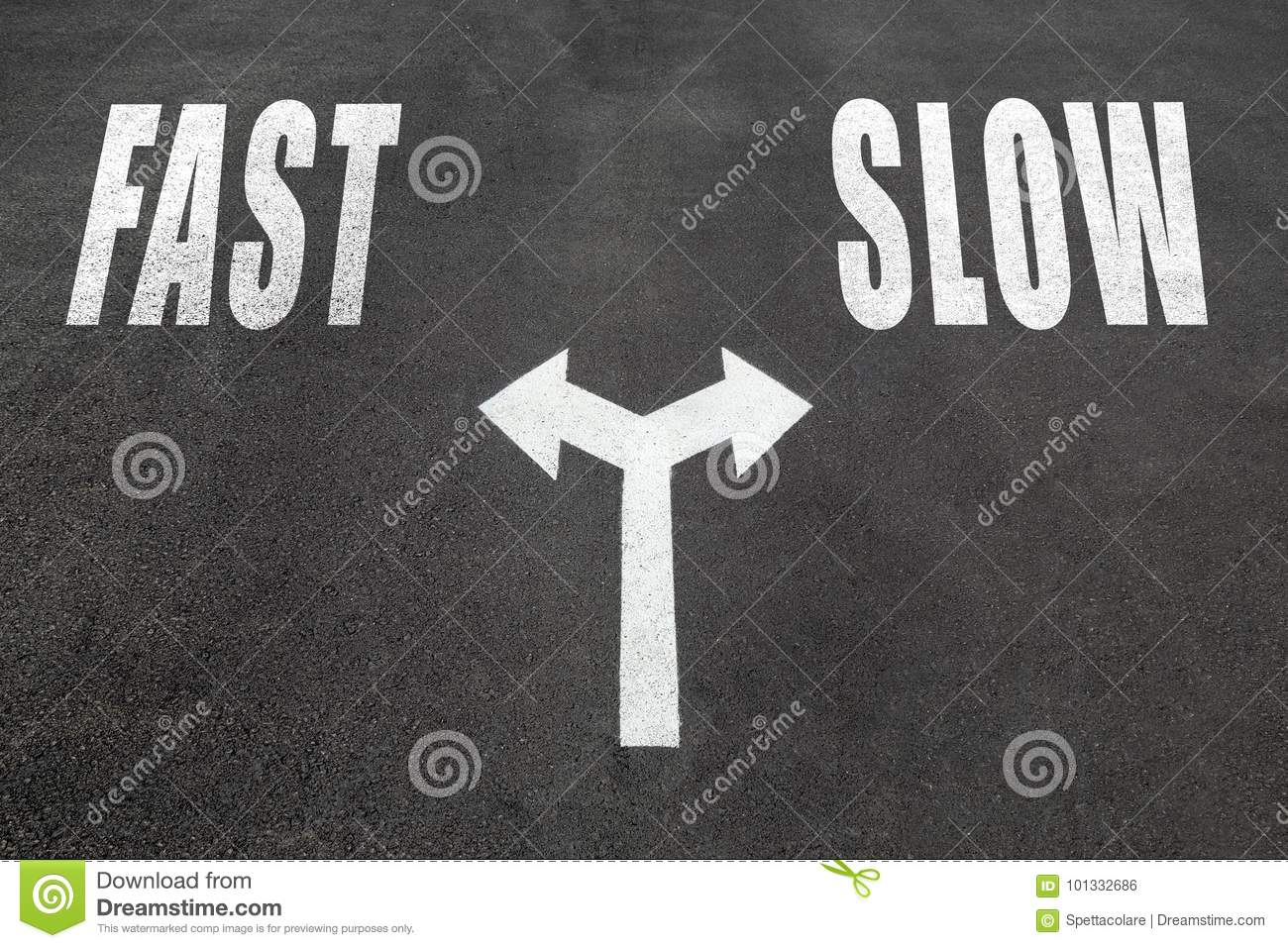 Fast Vs Slow Choice Concept Stock Photo
