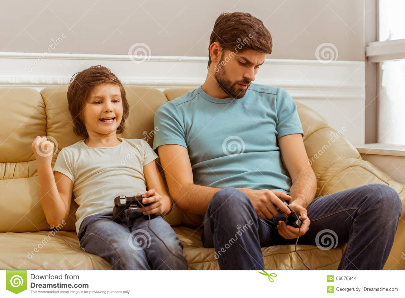 Father And Son Stock Photo Image Of Communication