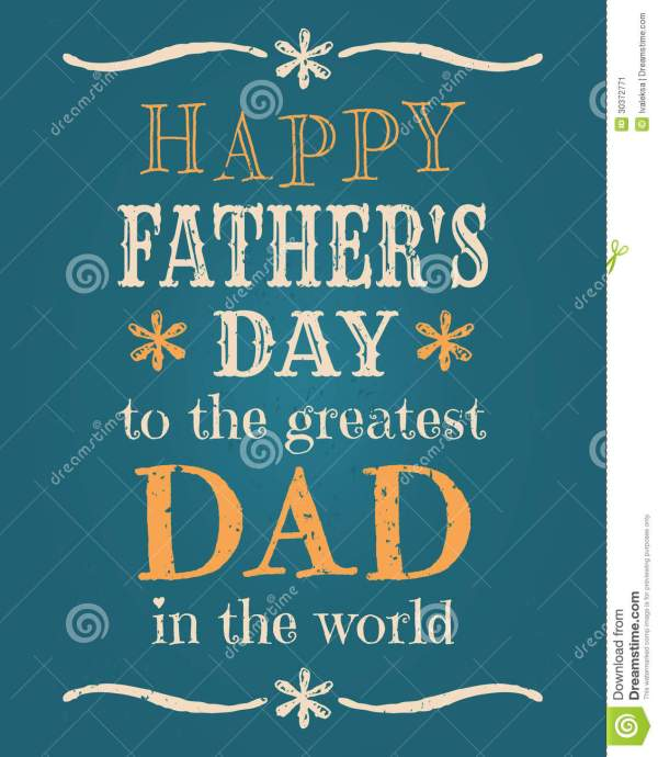 Fathers Day Card Stock Image - Image: 30372771