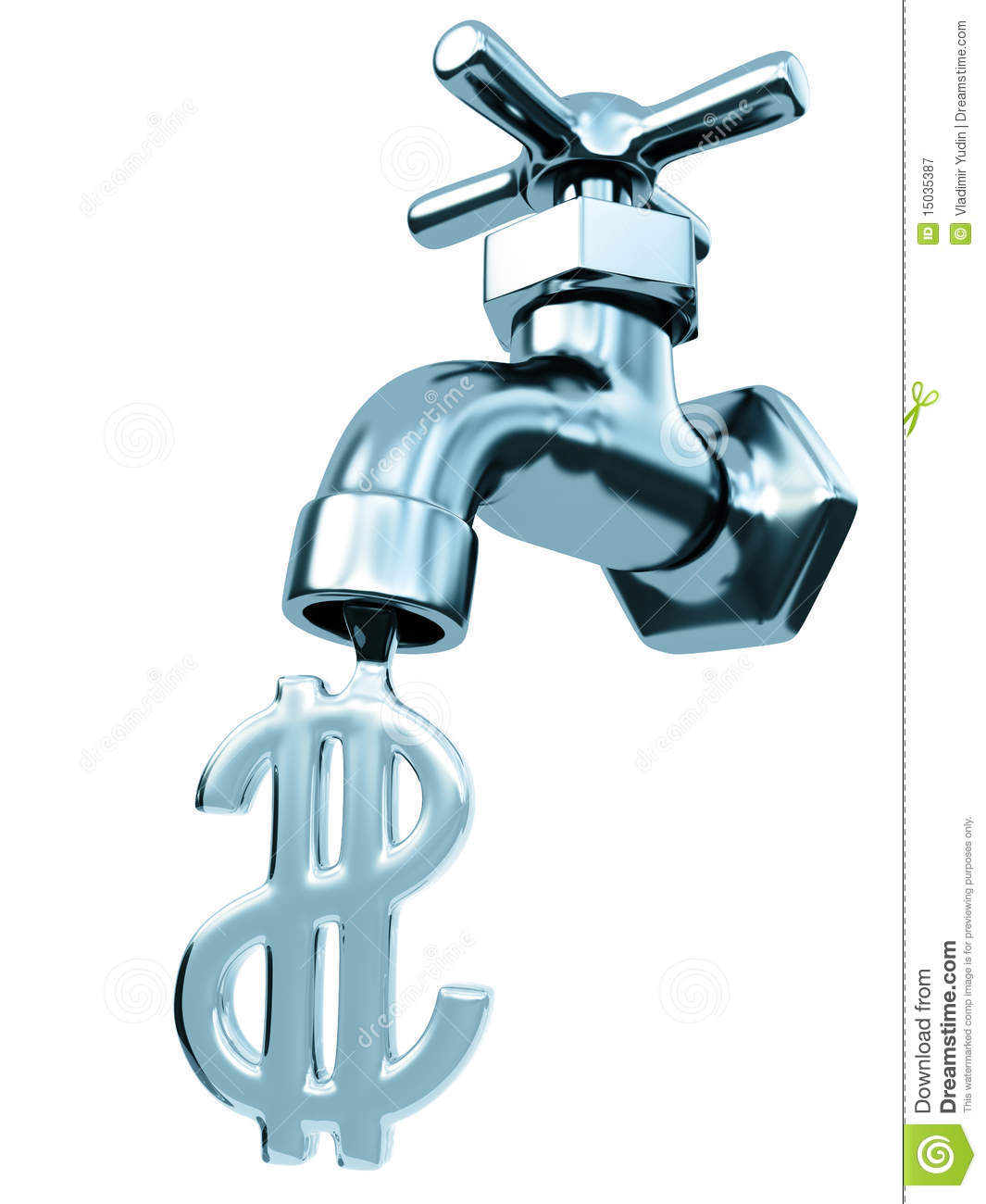 Faucet Water Stock Illustration Image Of Dollar Drop 15035387