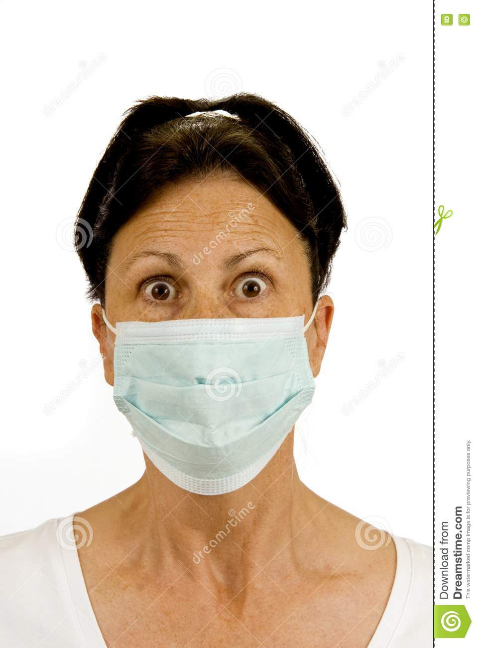 Fear Of Germs Stock Photo Image Of Looking Hygiene