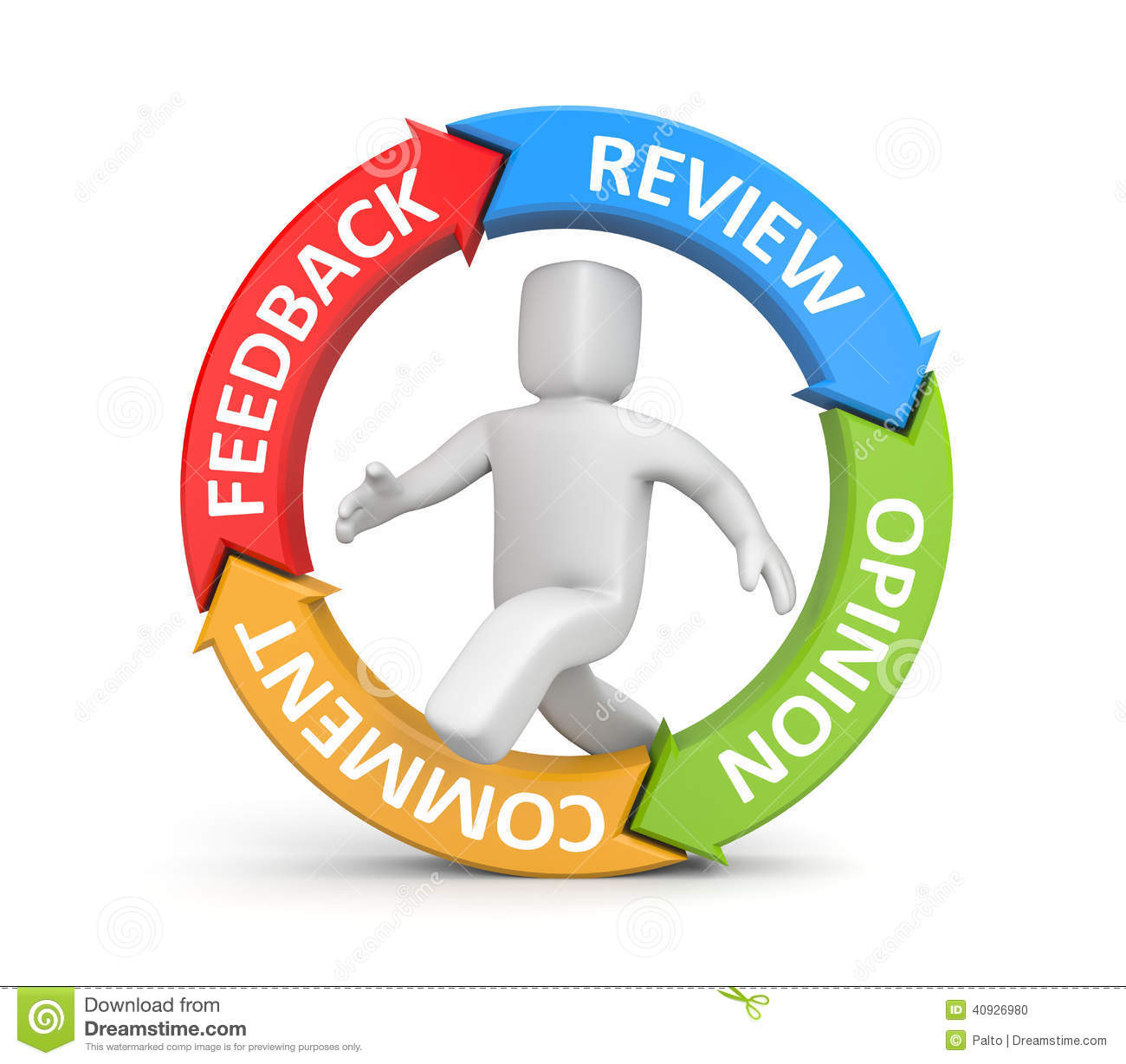 Feedback Reviews Opinion Comments Stock Illustration
