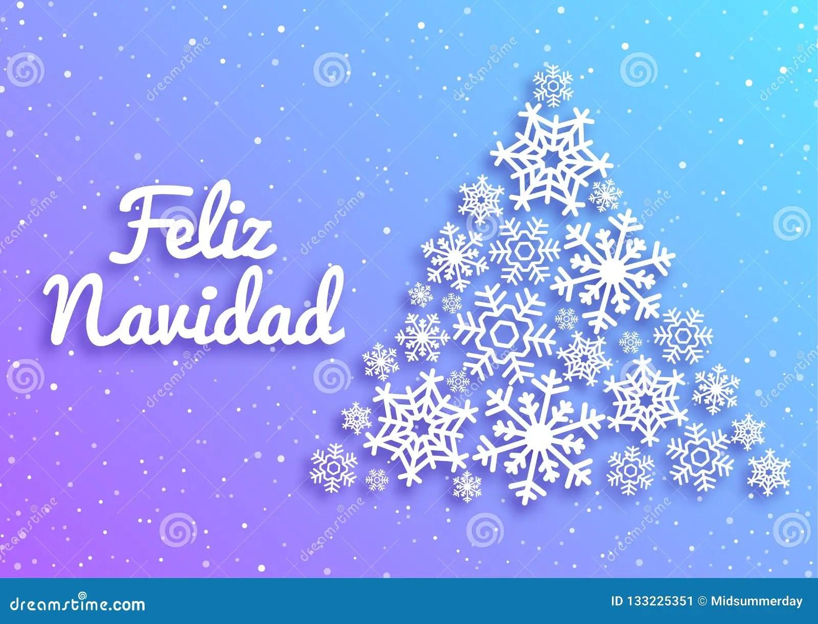 Feliz Navidad Merry Christmas Card With Greetings In