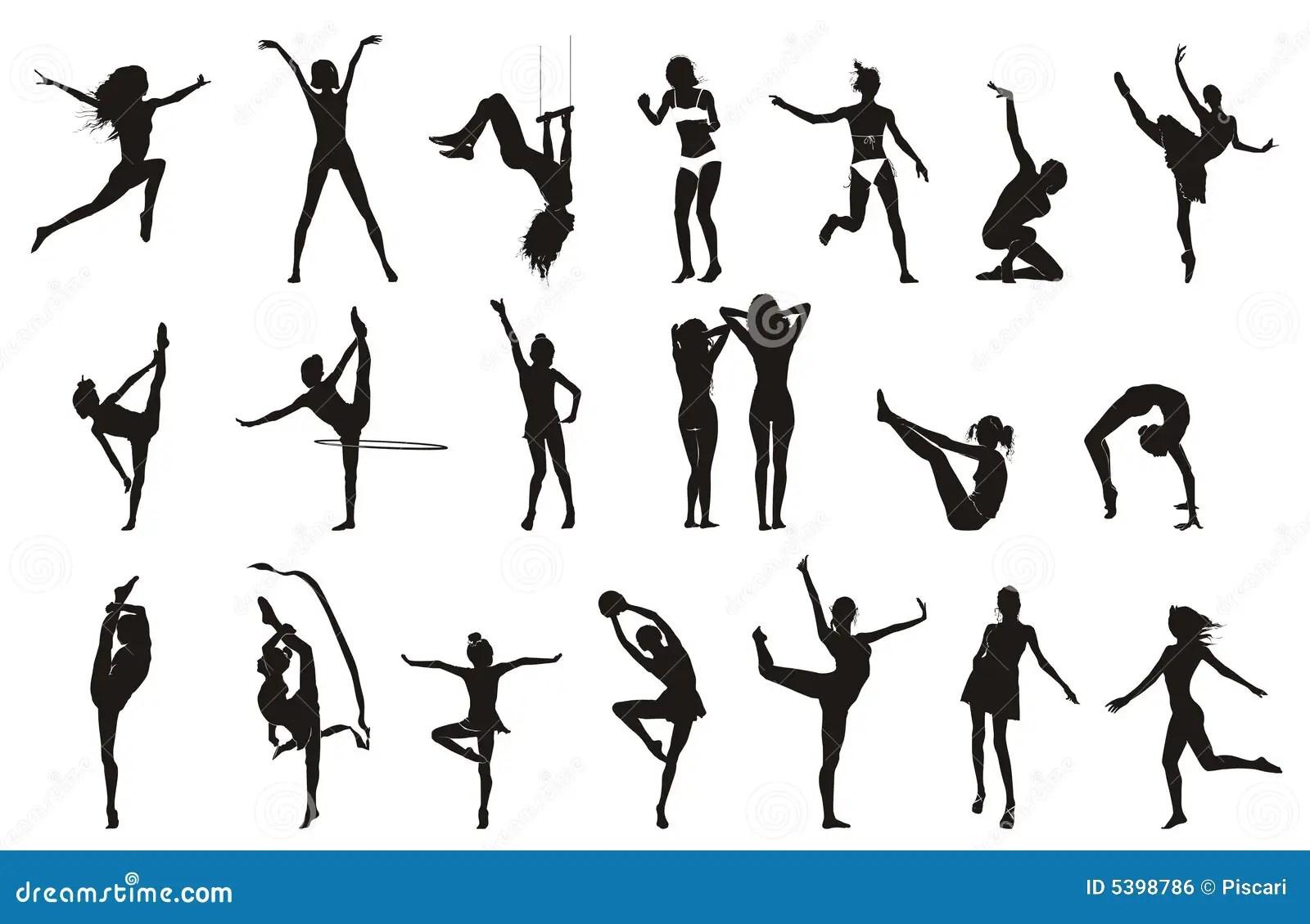 gymnast line drawing