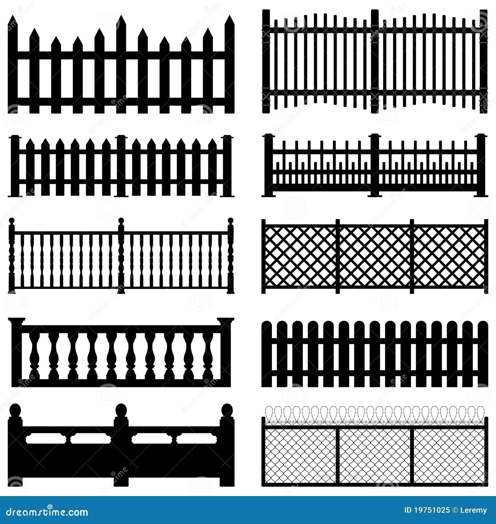 Fence Picket Wooden Wired Brick Garden Park Yard Stock