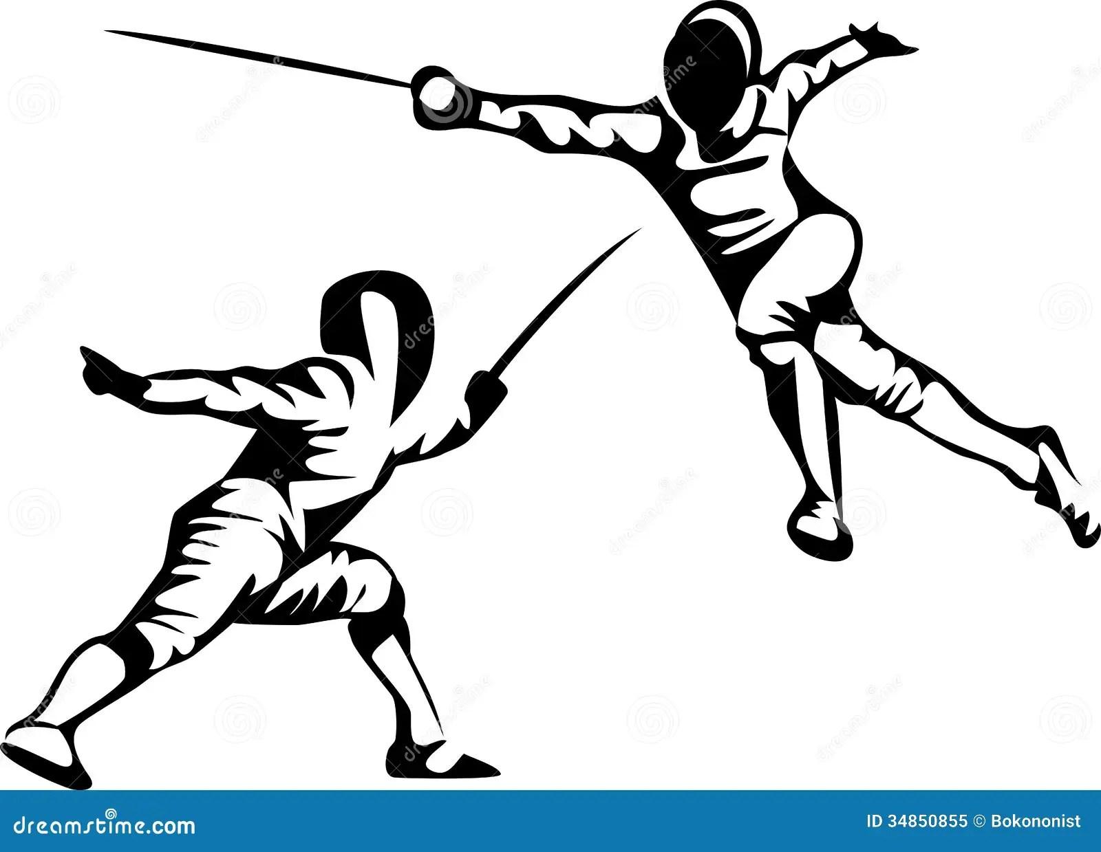 Fencing Stock Vector Illustration Of Fence Sport Fencer