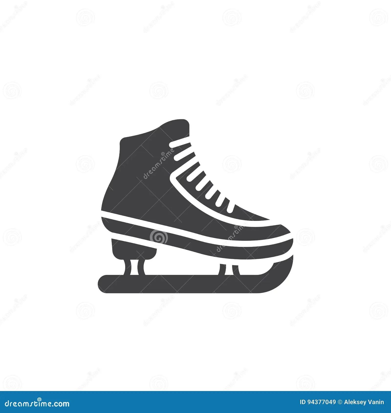 Ice Skating Symbol Stock Photography