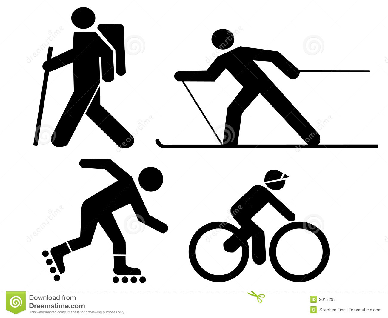 Figures Exercising Stock Vector Illustration Of Fitness