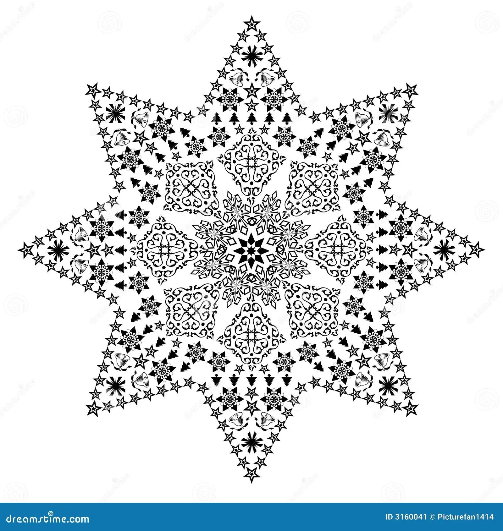 Filigree Star Black Stock Illustration Illustration Of