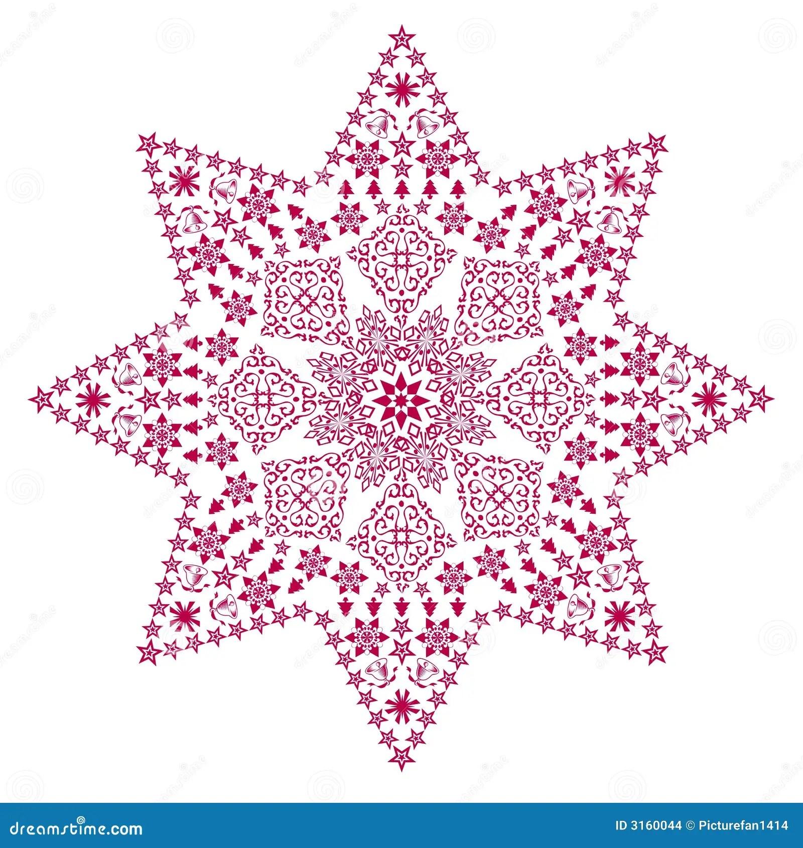 Filigree Star Red Stock Illustration Image Of Decoration