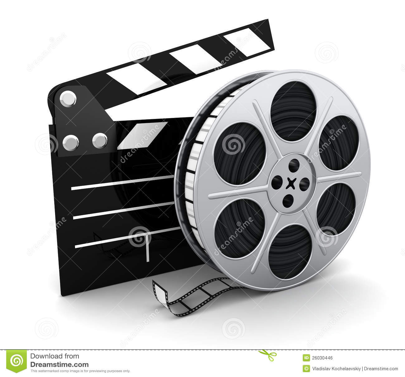 Film and clipboard symbol stock illustration Illustration