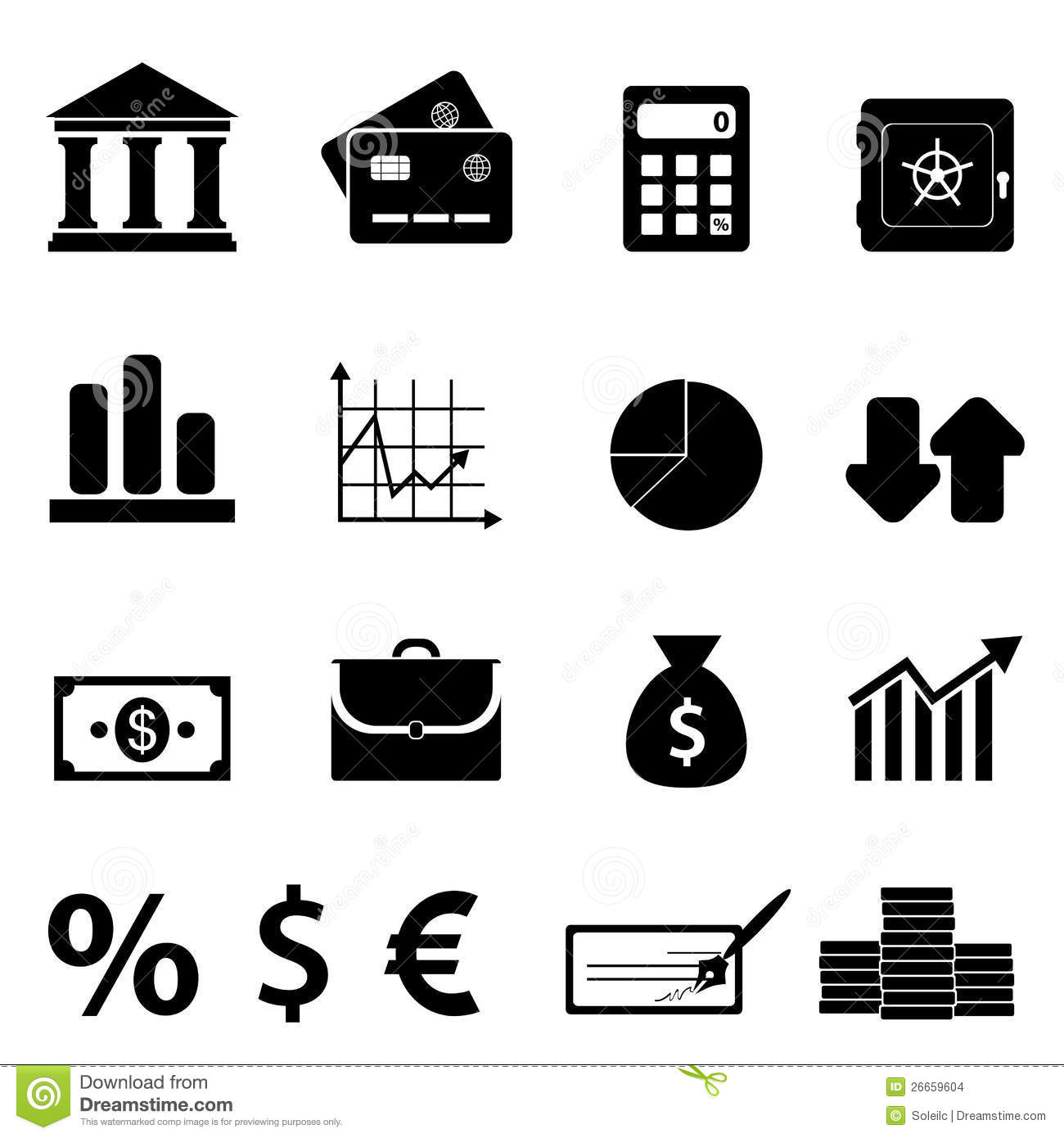 Finance Business And Banking Icons Stock Images