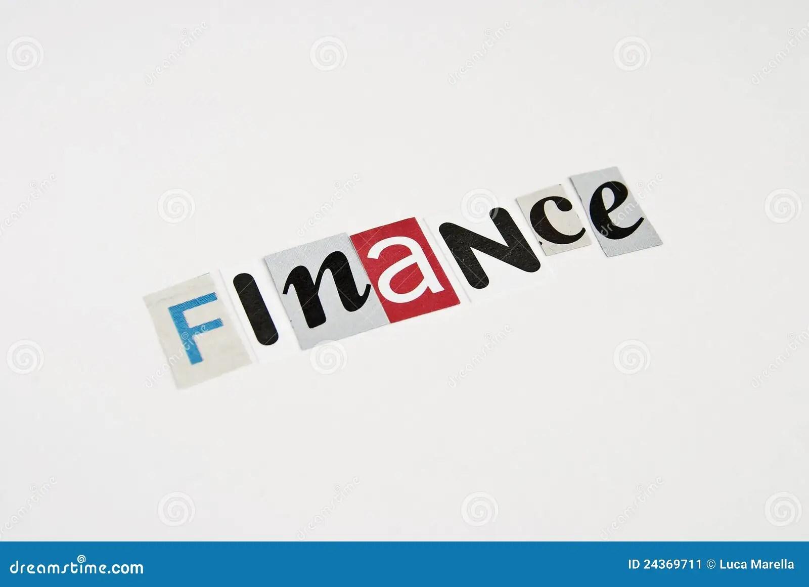 Finance Writing Ransom Stock Image