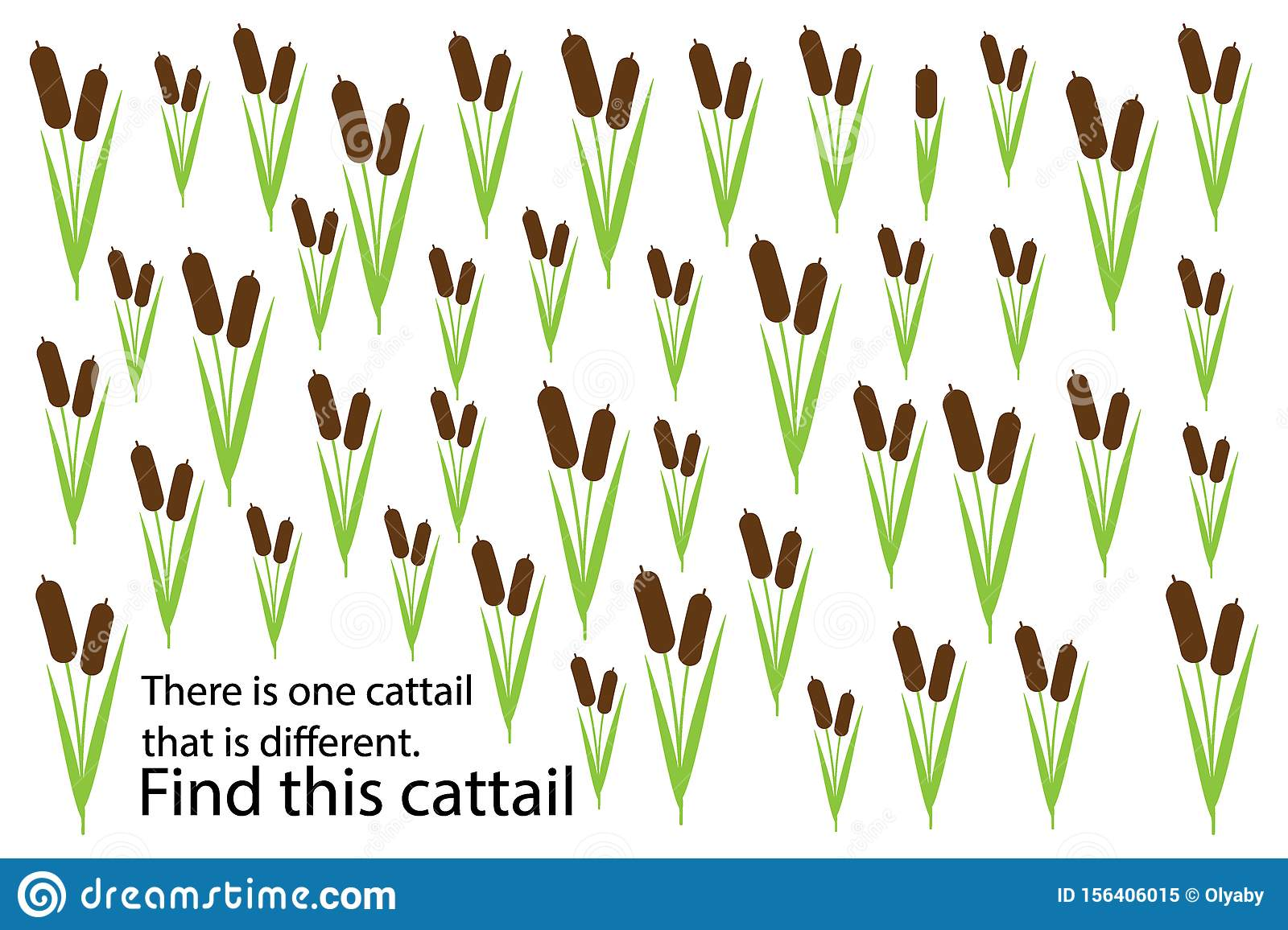 Find Cattail That Different Education Puzzle Game For