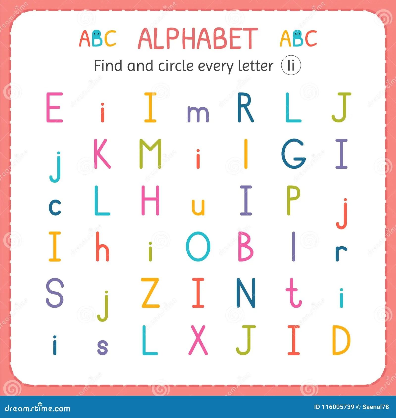 Find And Circle Every Letter I Worksheet For Kindergarten