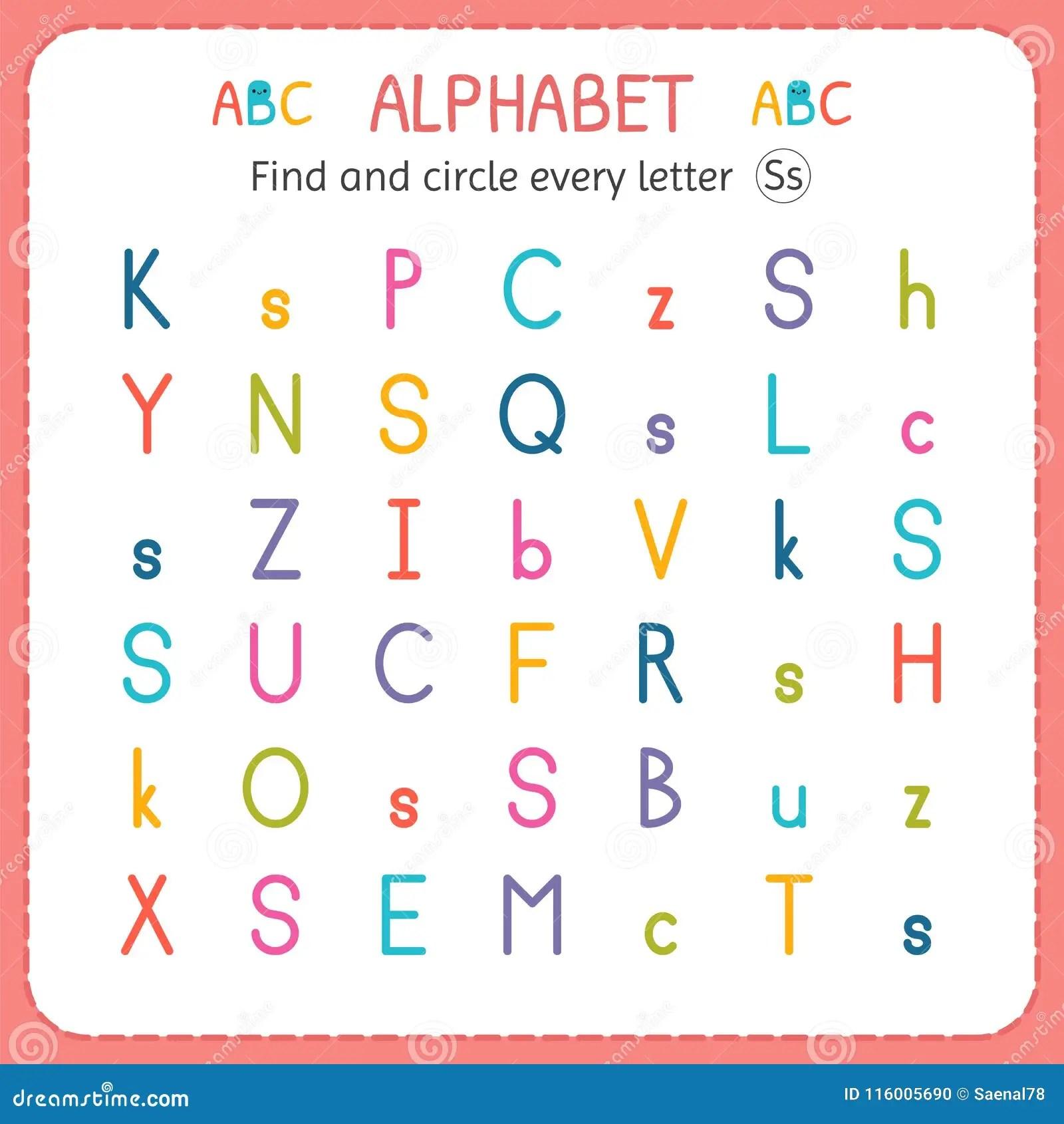 Find And Circle Every Letter N Worksheet For Kindergarten