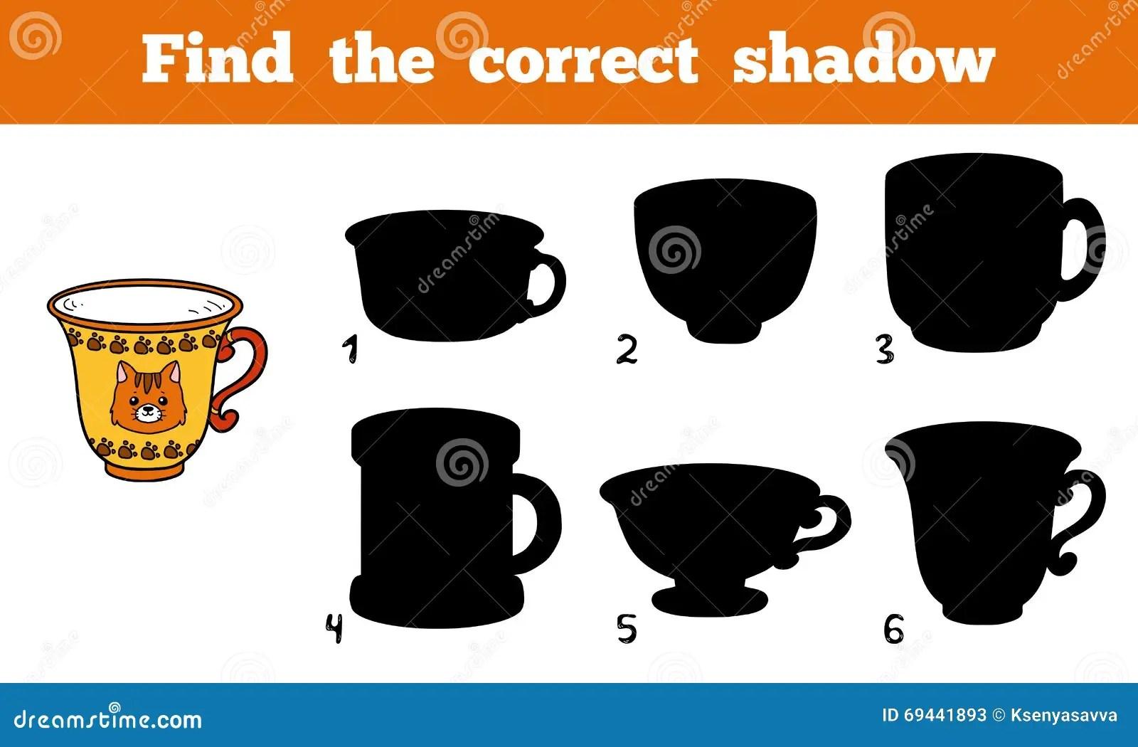 Find Correct Shadow For Each Object Cartoon Vector