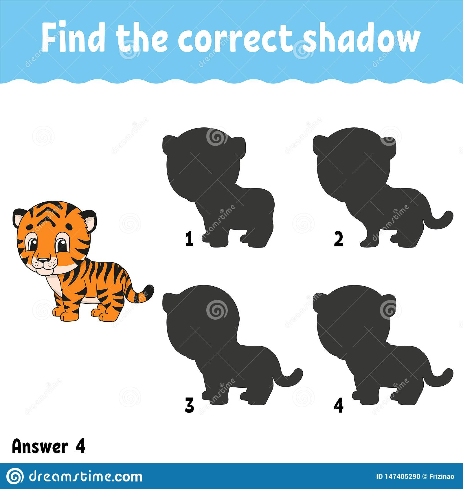 Find The Correct Shadow Education Developing Worksheet