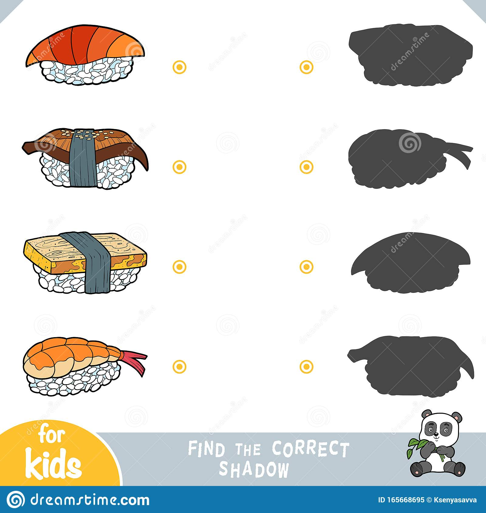 Find The Correct Shadow Education Game For Children Set