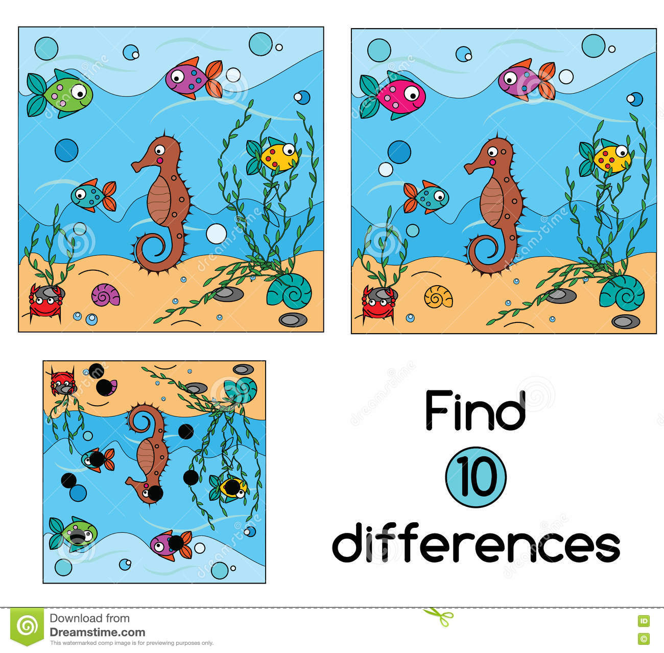 Find The Differences Educational Children Game Kids