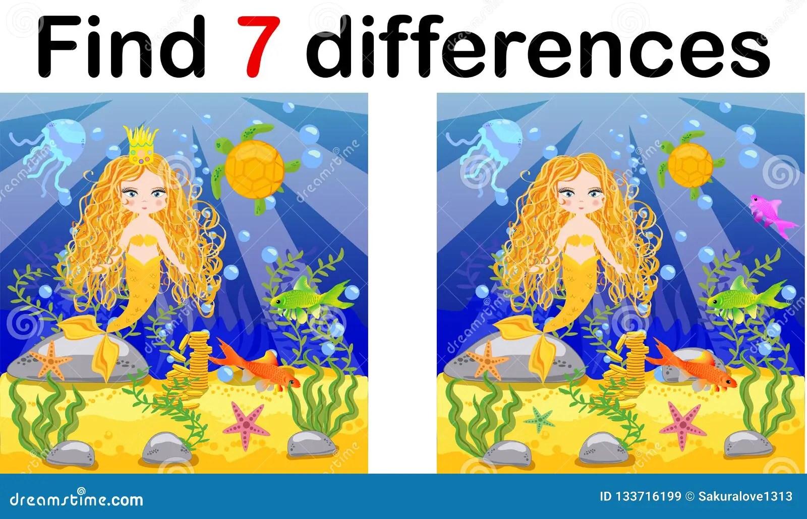 Mermaid Cartoon Stock Images