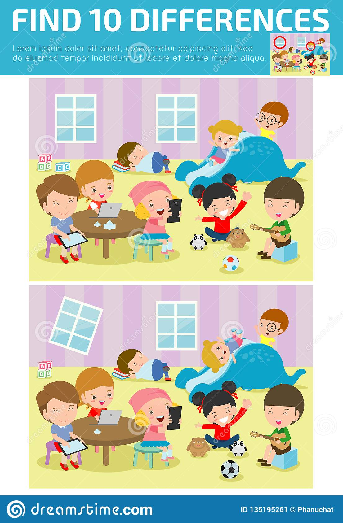 Find Differences Game For Kids Find Differences Brain