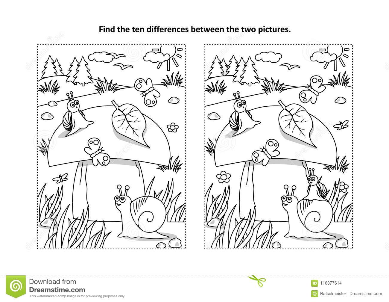 Fall Preschool Worksheet Find The Difference