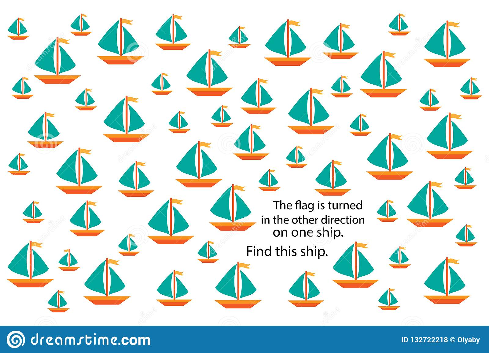 Find Different Ship Fun Education Puzzle Game With