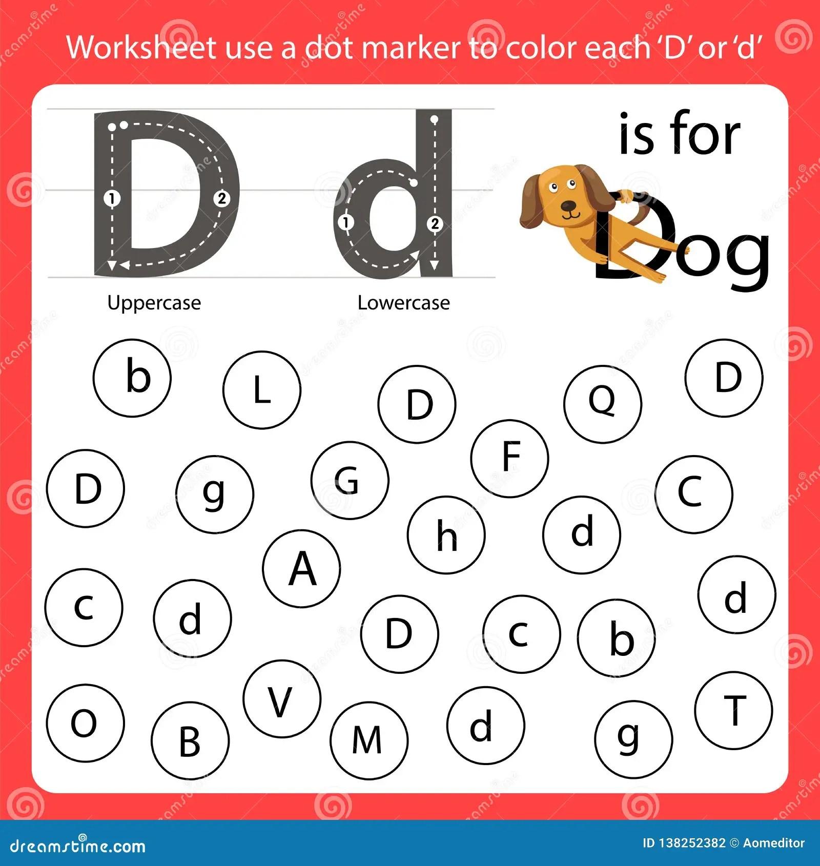 Find The Letter Worksheet Use A Dot Marker To Color Each D
