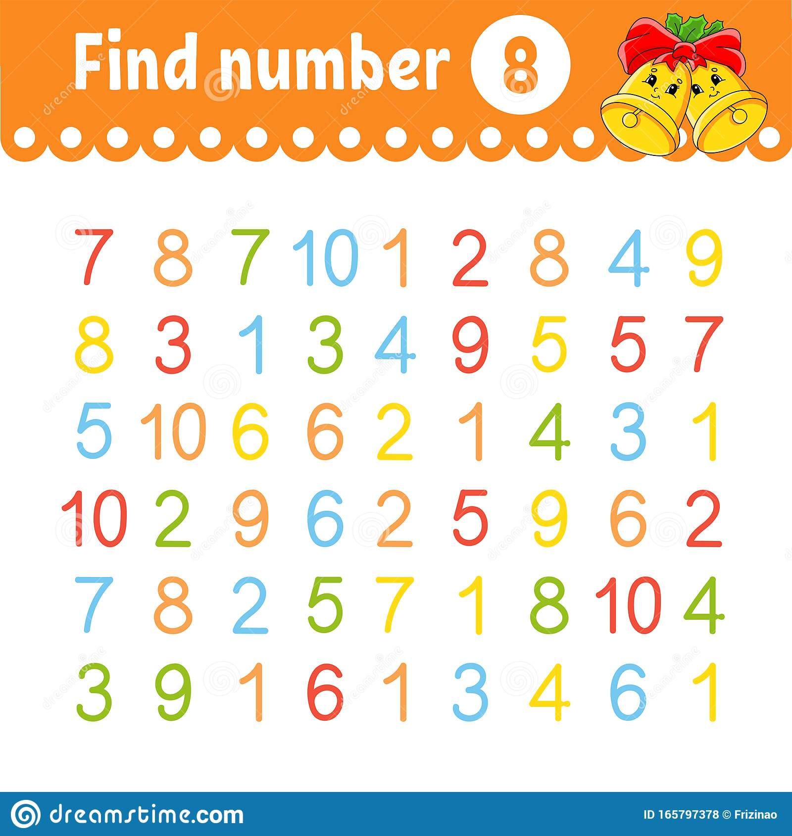 Find Number Education Developing Worksheet Activity Page