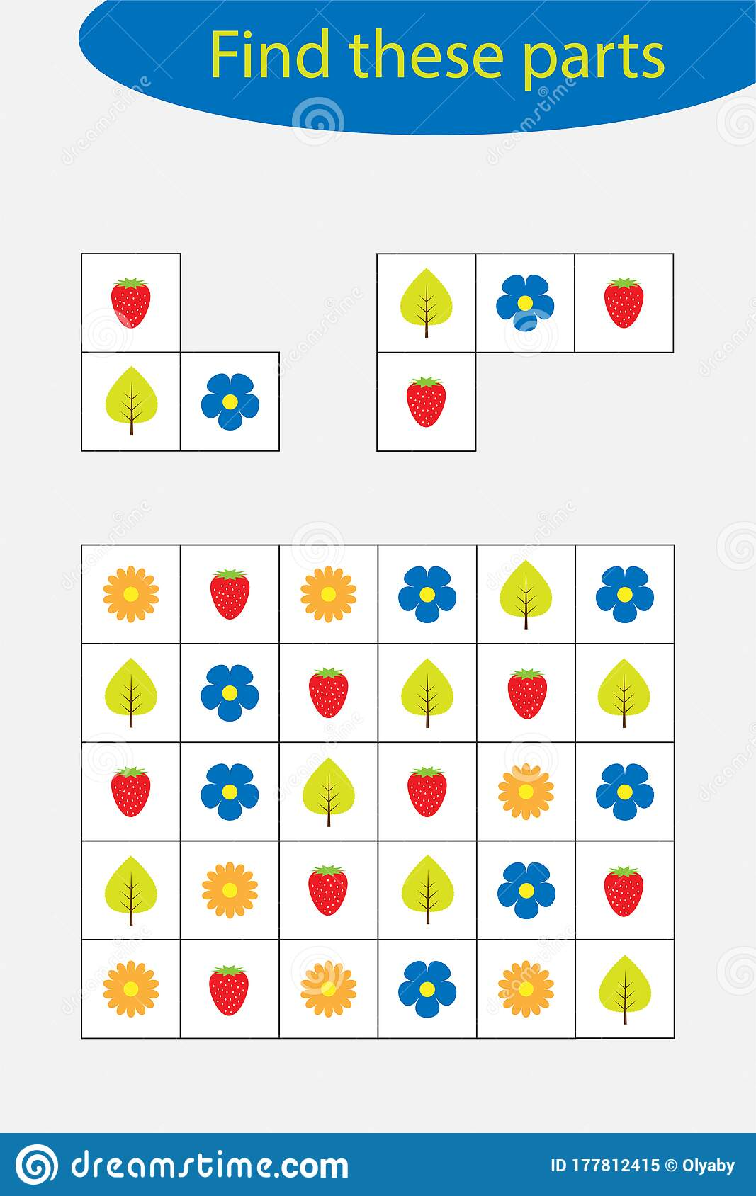 Find The Parts Of The Cover Fun Education Game For