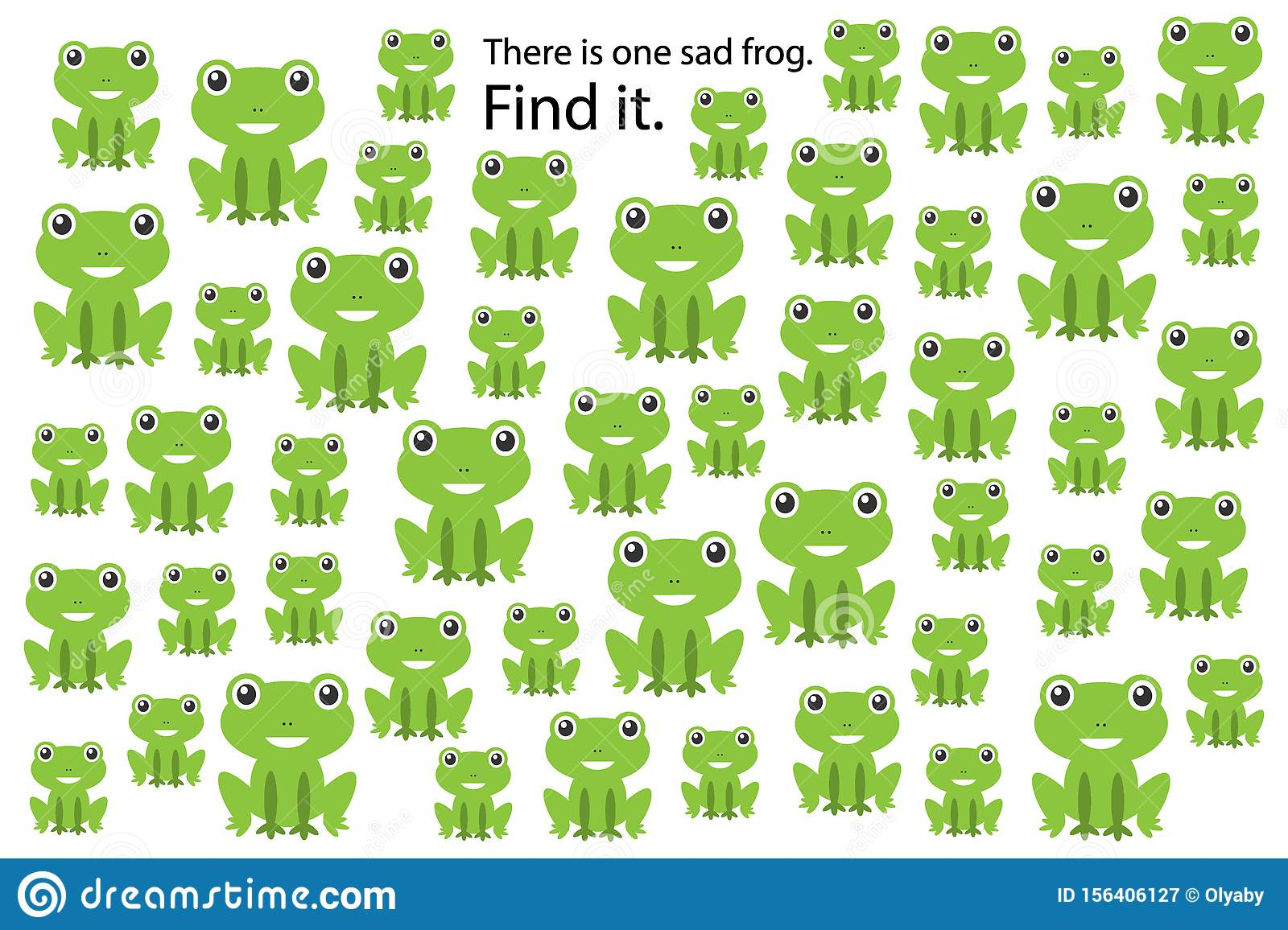 Find Sad Frog Education Puzzle Game For Children