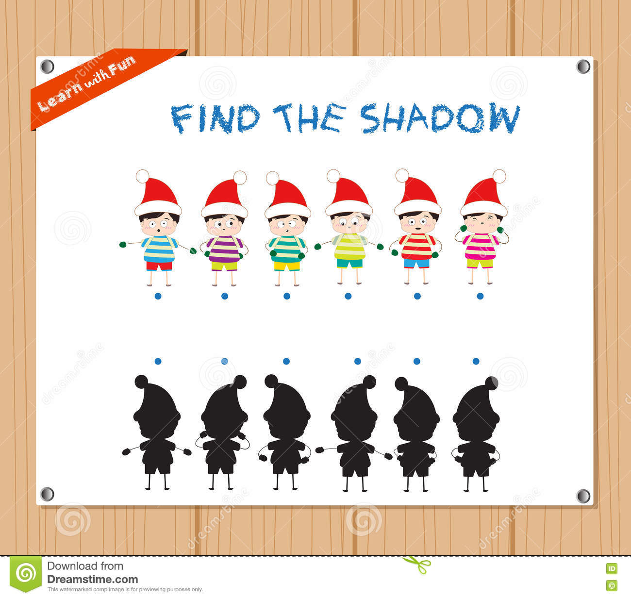 Activity Task For Children Cartoon Vector