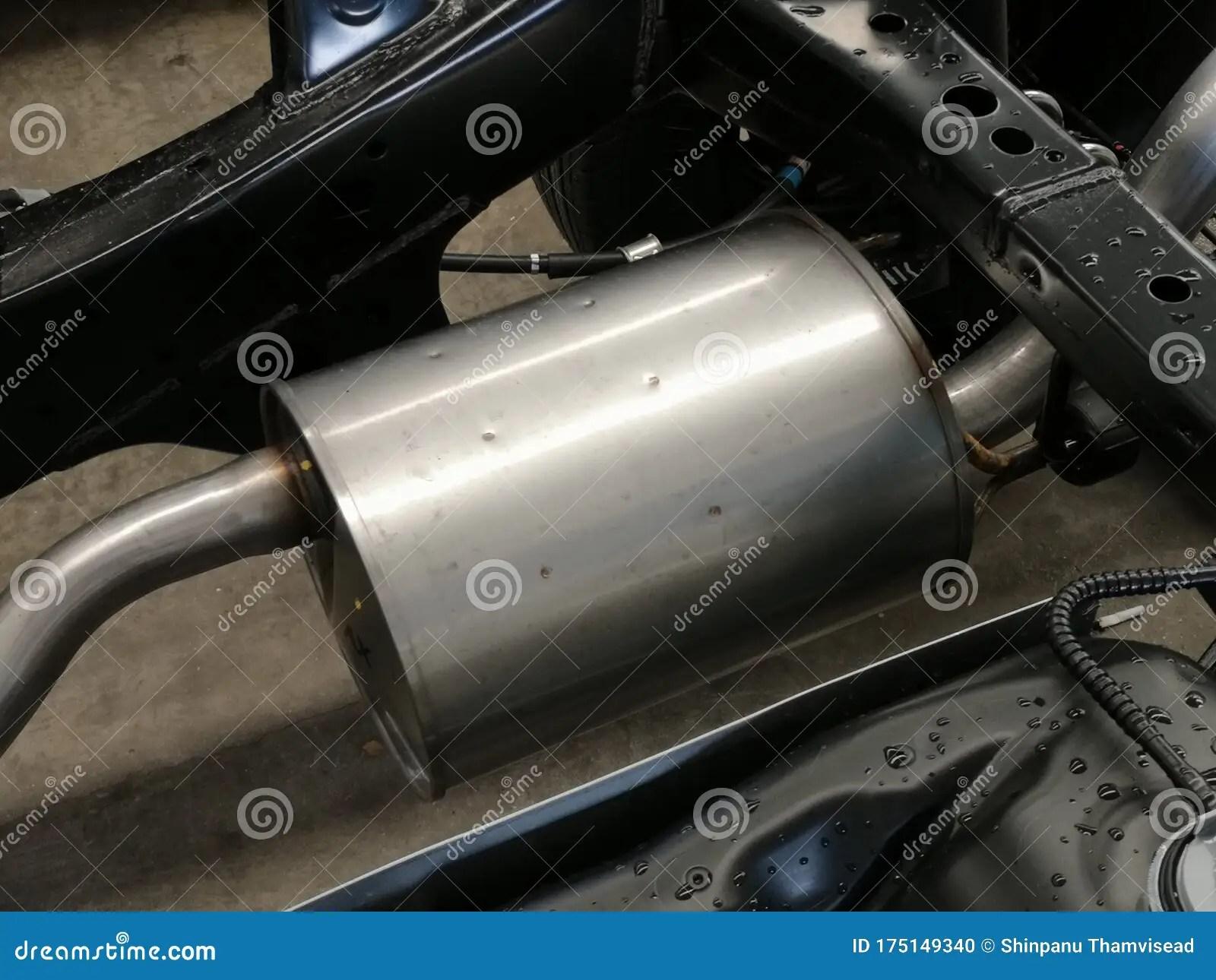 https www dreamstime com fine closeup image metal silencer pickup truck exhaust pipe image175149340